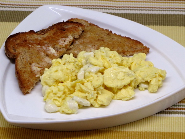 Scrambed Eggs and Cheese