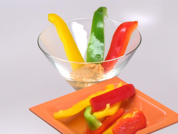 Peppers and Miso Ginger Dressing