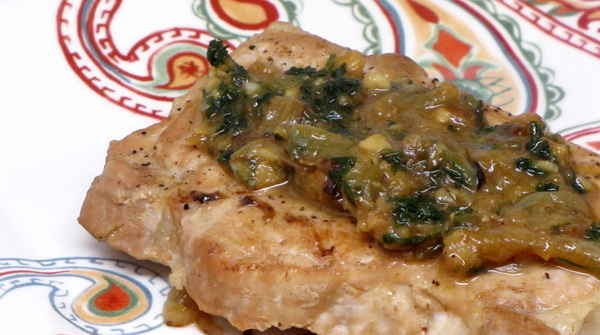 Lemon Parsley Pork Chops