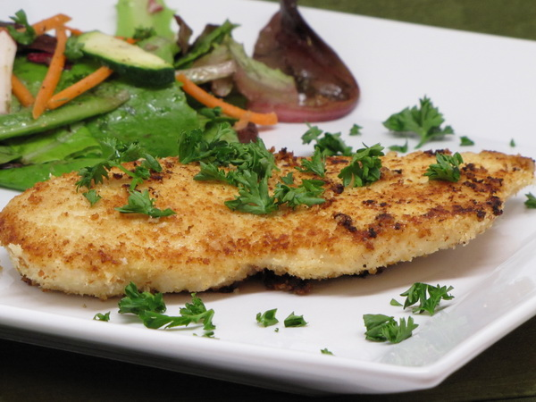 Chicken Milanese with Salad