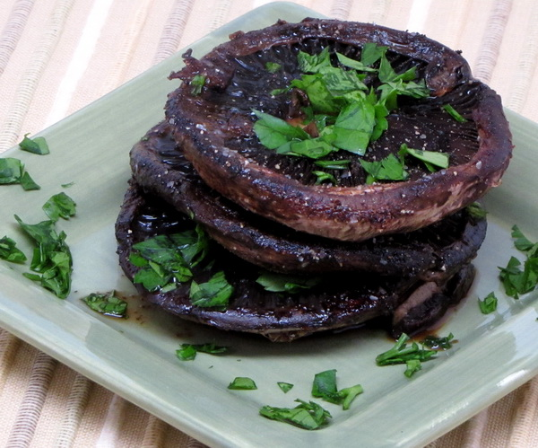 Portobello Mushroom Caps And Veggies Recipe — Dishmaps