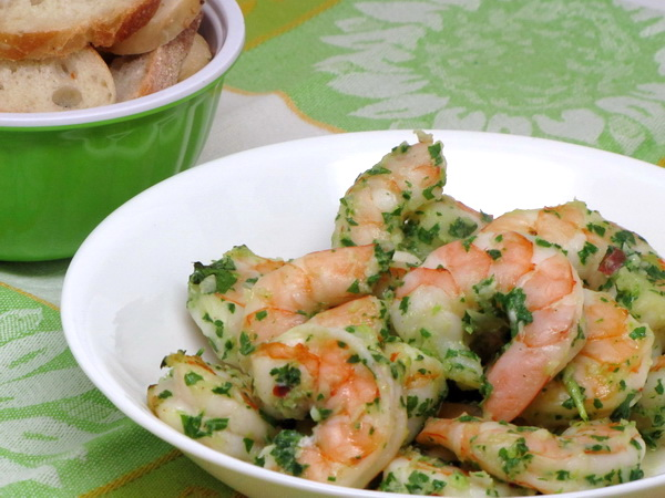 Shrimp with Verde Sauce