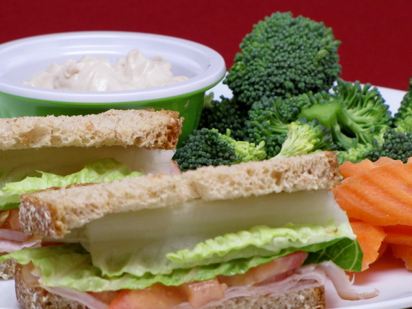 Turkey Sandwich Lunch Platter
