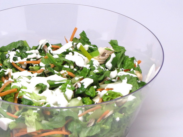 Garlicky Side Salad