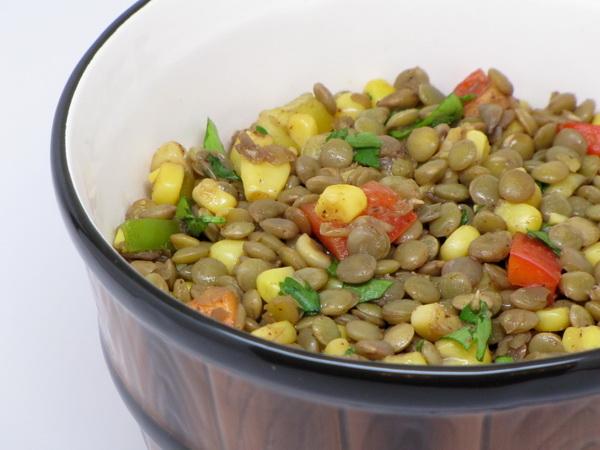Lentil and Corn Pilaf