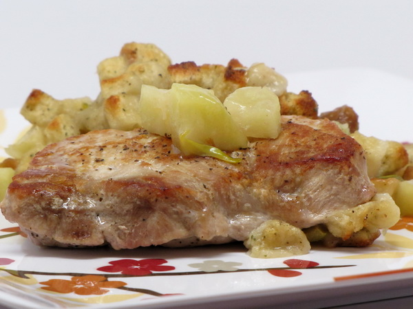 Pork Chops with Apple Stuffing