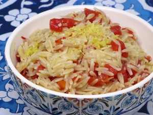 Tomatoes and Orzo