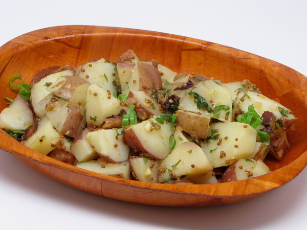 warm bacon potato salad steamy kitchen recipes warm bacon potato salad ...