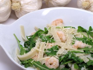 Pasta, Argula and Shrimp