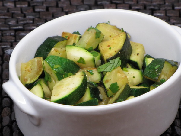 Zucchini with Lemon and Cilantro