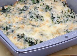 Cheesy Spinach and Rice