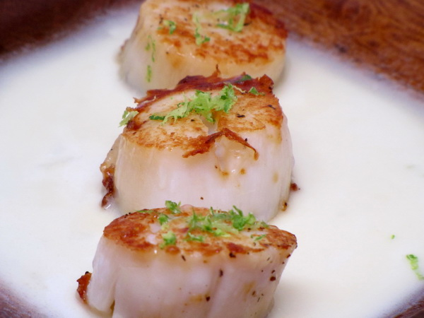 Ginger Lime Scallops
