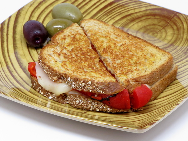 Grilled Provolone and Peppers