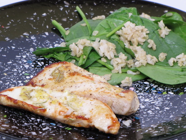 Lemon Rosemary Chicken with Spinach