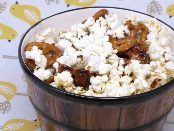 Parmesan Pretzels and Popcorn