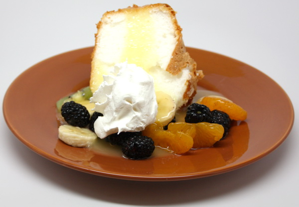 Angel Food Cake and Fruit