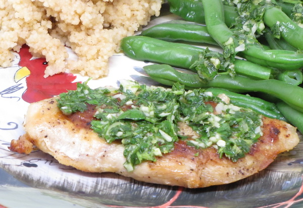 Chimichurri Chicken and Green Beans