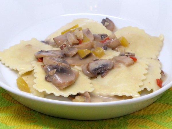 Ravioli with Mushroom Sauce