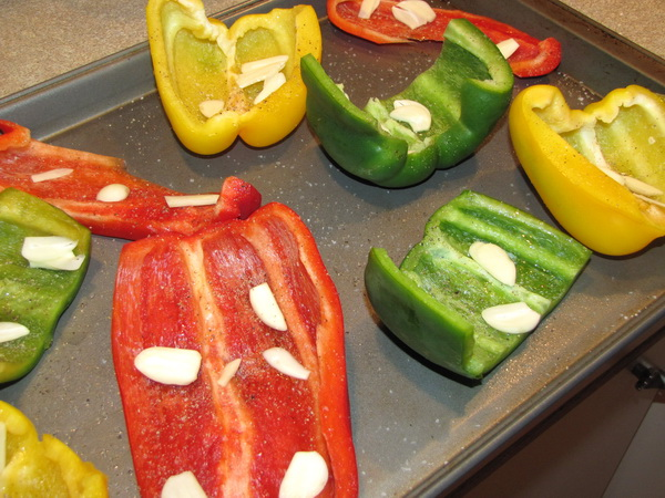 Roasted Peppers and Garlic in the Raw