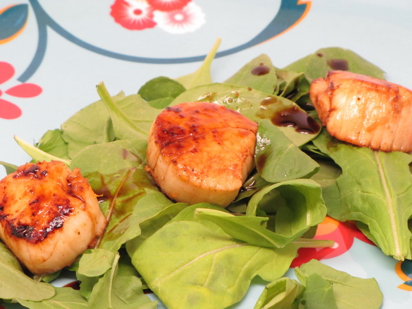 Grilled Scallops with Balsamic