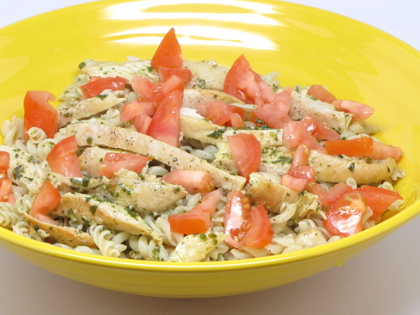 Chicken Pesto Pasta Recipe — Dishmaps