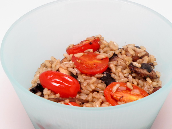 Mushroomy Brown Rice