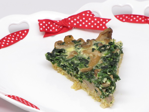 Quiche with Rice Crust