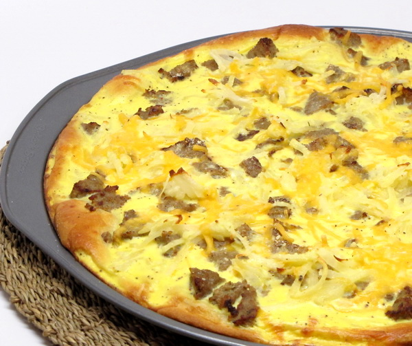 Sausage and Potato Breakfast Pizza