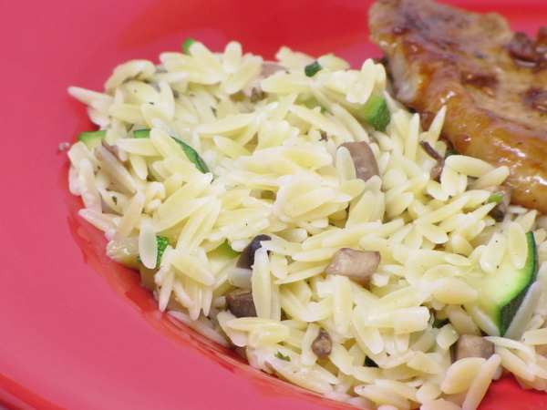 Mushroom and Zucchini Orzo
