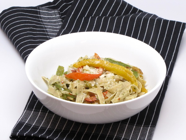 Tri Color Pepper Pasta