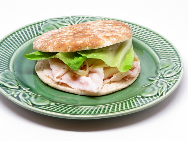 Warm Turkey Sandwich with Caramelized Onions