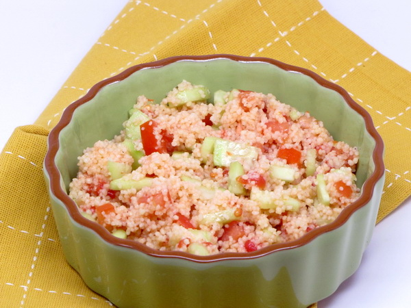 Couscous with Tomatoes and Cucumbers