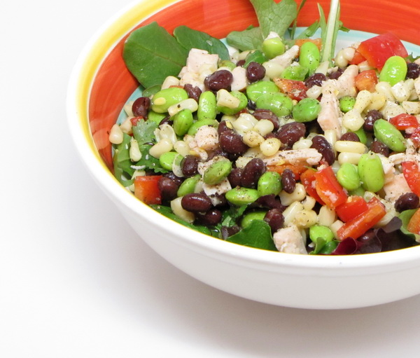 Turkey, Black Bean and Edamame Salad