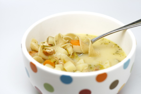Roasted Chicken Noodle Soup (Crock Pot)