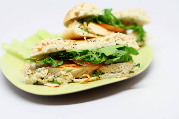 Chicken and Arugula Sandwich