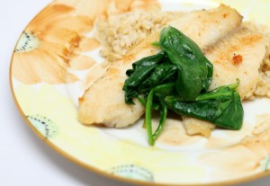 Tilapia Piccata with Spinach