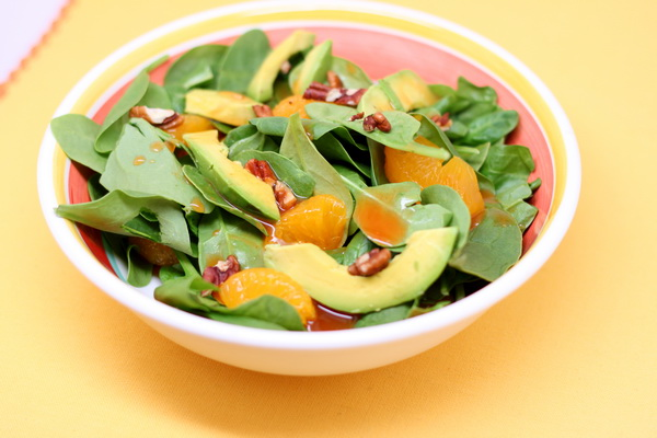 Avocado and Spinach Salad