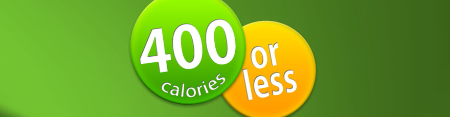 Get the '400 Calories or Less' App and eBooks now !