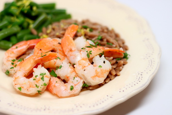 Garlic Shrimp with Orzo