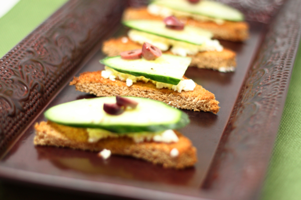 Greek Cucumber Toasts