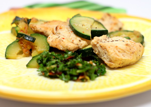 Grilled Chicken and Zucchini