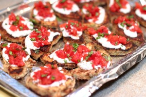 Eggplant with Bruschetta