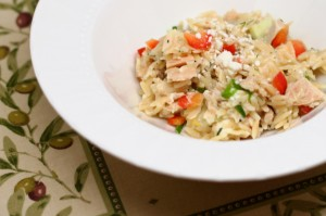 Lemony Orzo and Tuna