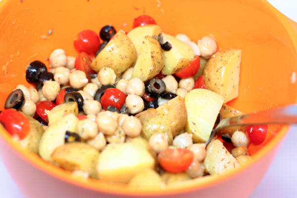Greek Chickpea and Potato Salad