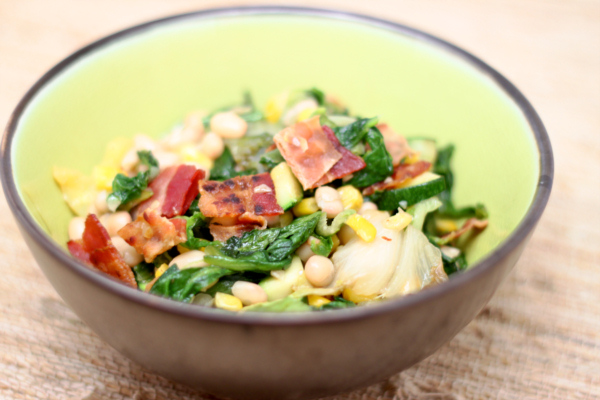Sauteed Escarole with White Beans