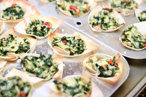 Spinach Artichoke Cups
