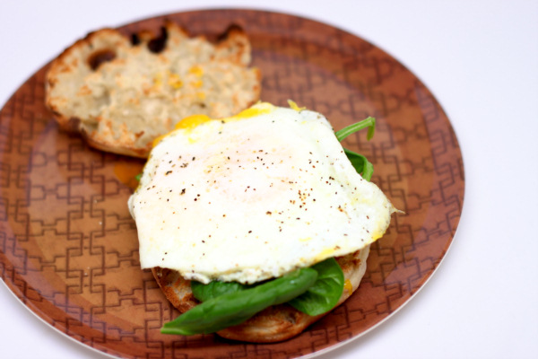Egg and Spinach Muffin