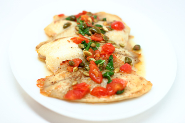 Tilapia with Pepitas