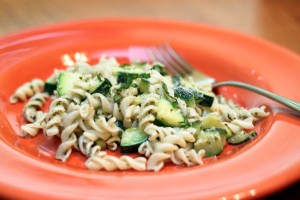 Pasta with Pesto and Zucchini